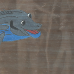 A picture of Barri the Barramundi, a big fish character from the children's book